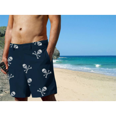 Blaze-In Skull & Cross Bones Shorts